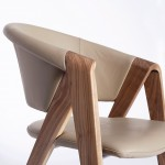 Spirit Chair with cream leather