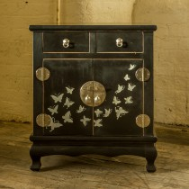 Saigon hand made cabinet with drawers black