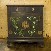 Saigon hand made cabinet with drawers grey